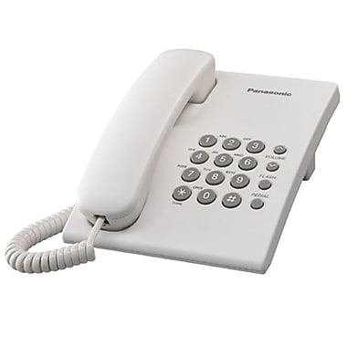 Panasonic KX-TS500W Single Line Corded Office Telephone, White