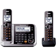 Panasonic® KX-TG7872S Link-2-Cell Bluetooth Convergence Phone W/2 Handset, 100 Name/Number