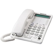 Panasonic® KX-TS208W 2 Line Corded Integrated Telephone System W/16 Digit LCD & Clock