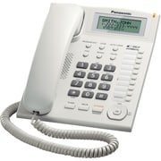 Panasonic® KX-TS880 Corded Telephone System W/Call Waiting Caller ID, 50 Name/Number, White