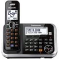 Panasonic® KX-TG6873B Digital Cordless Answering System W/3 Handset & Key Detector, 100 Name/Number