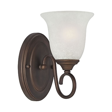 Millennium Lighting 1 Light Bath Sconce; Rubbed Bronze