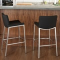 Home Loft Concept Mauricio Bar Stool with Cushion (Set of 2)