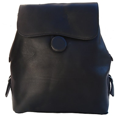 Piel Fashion Avenue Ladies Backpack; Black