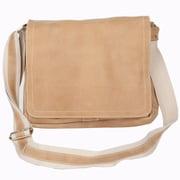 David King Distressed Messenger Bag; Tan