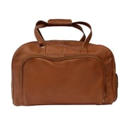 Piel Traveler Deluxe 17'' Leather Carry-On Duffel Bag; Saddle