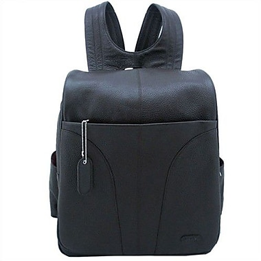 Leatherbay Laptop Backpack; Dark Chocolate