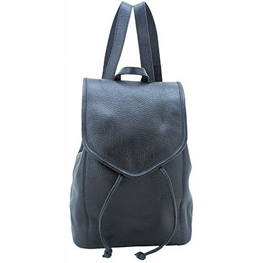 Leatherbay Small Backpack; Black