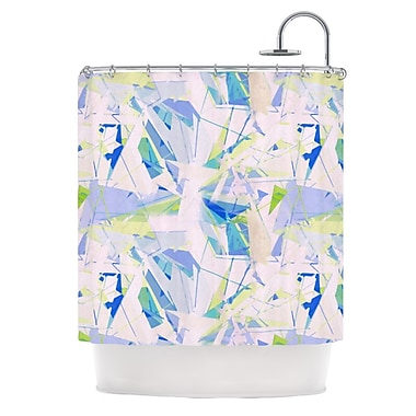 KESS InHouse Shatter Shower Curtain; Blue