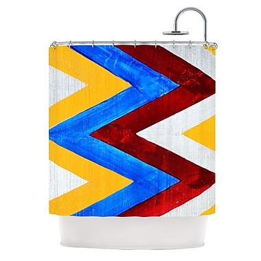 KESS InHouse Zig Zag Shower Curtain