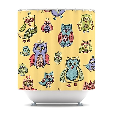 KESS InHouse Owls Shower Curtain