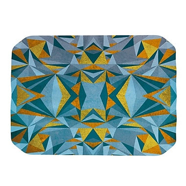 KESS InHouse Abstraction Placemat; Blue and Gold