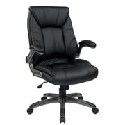 Office Star Mid Back Managers Chair with Padded Flip Arms