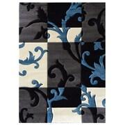 DonnieAnn Company Studio 602 Charcoal Floral Area Rug; 7' x 5'