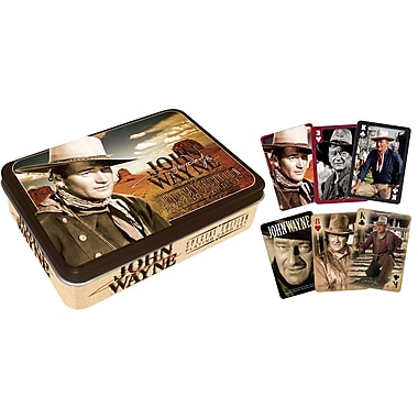Aquarius John Wayne Playing Card Tin Set