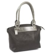Claire Chase Barcelona Tote Bag; Black with Grey