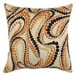 Chooty & Co Postitano Polyester Pillow; Tan / Orange / Brown