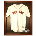 Caseworks International 2013 Red Sox World Series Champs Cabinet Style Jersey Display; Mahogany