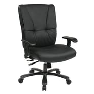 Office Star 25'' Leather Executive Chair