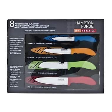 Hampton Forge Dura Ceramica 8 Piece Cutlery Set