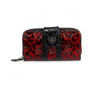 Loungefly Leopard Skull Patent Embossed Wallet