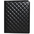Buxton Quilted Padfolio; Black