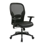 Office Star Space 21.25'' Mesh Professional Breathable Back Chair with Eco Leather Seat