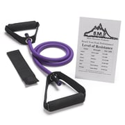 Black Mountain Products Single Resistance Band w/Door Anchor and Starter Guide; 45-50 lbs (Purple)