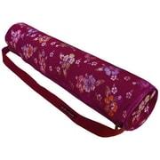 WaiLana Deluxe Hibiscus Tote Bag for Yogi Mat; Magenta