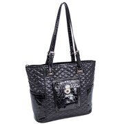 Parinda Farrah Quilted Croco Faux Leather Tote Bag