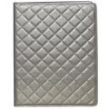 Buxton Quilted Padfolio; Pewter
