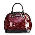 Loungefly Skull Leopard Patent Embossed Tote Bag