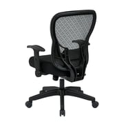 Office Star Space 28'' Back Chair with Mesh Seat and Flip Arms