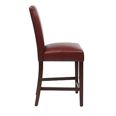 Office Star Counter Height Bar Stool (Set of 2); Crimson Red