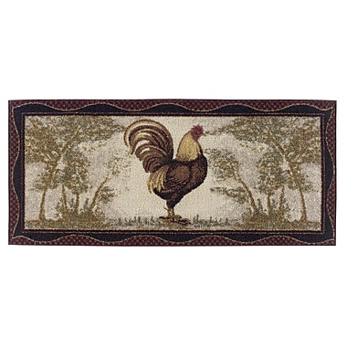 Brumlow Mills Rooster Novelty Kitchen Rug; 1'8'' x 3'8''