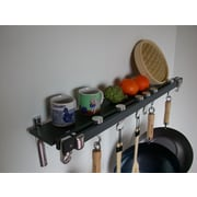 Taylor & Ng Track Rack Wall Pot Rack; Anthracite Grey