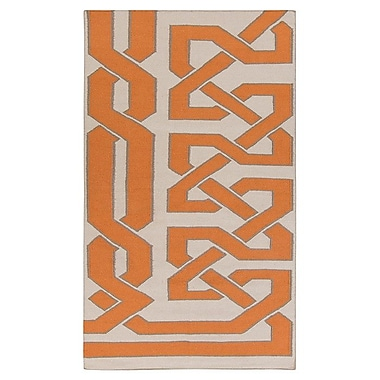 Beth Lacefield Alameda Ivory/Orange Area Rug; 5' x 8'