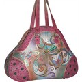 Anuschka Extra Large Henna Butterfly Shopper Tote Bag