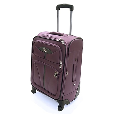Oleg Cassini Lightweight 21'' Expandable Spinner Suitcase; Lavender