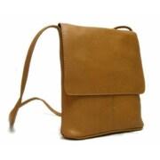 Le Donne Leather Flap Over Mini Shoulder Bag; Tan