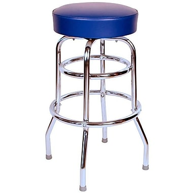 Richardson Seating Retro Home 30'' Swivel Bar Stool ; Blue
