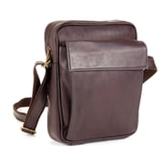 Le Donne Leather iPad/E-Reader Carry All Shoulder Bag; Caf