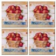 McGowan Tuftop Apple Basket Coasters (Set of 4)