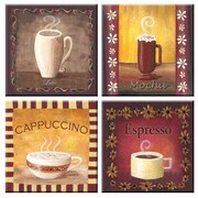McGowan Tuftop Coffee Time Coasters (Set of 4)