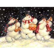 McGowan 1 Snowman Trio & 1 Holly Border (Set of 2)