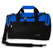 J World Copper 18'' Travel Duffel with Shoulder Strap; Blue/Black