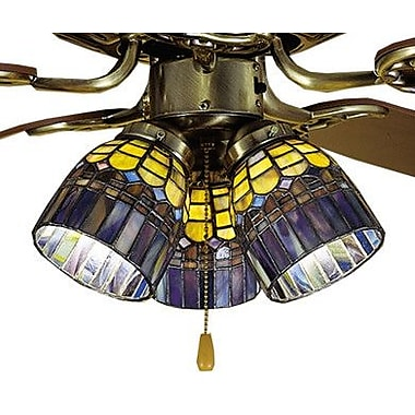 Meyda Tiffany 4'' Tiffany Glass Bell Fan Fitter Shade