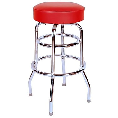 Richardson Seating Retro Home 30'' Swivel Bar Stool ; Red