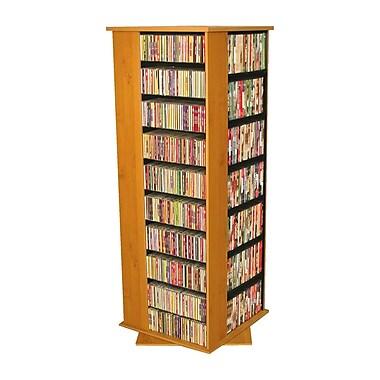 Venture Horizon VHZ Entertainment 1600 CD Molded Multimedia Revolving Tower; Oak