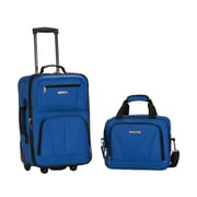 Rockland 2 Piece Carry On Luggage Set; Blue